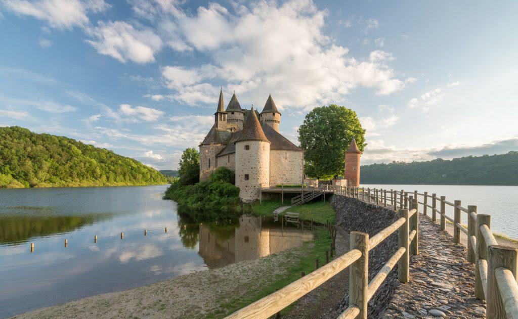 Château de Val à Bort les Orgues en Corrèze, Limousin.