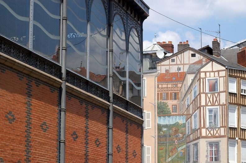 Halles et trompe l'oeil à Limoges en Limousin