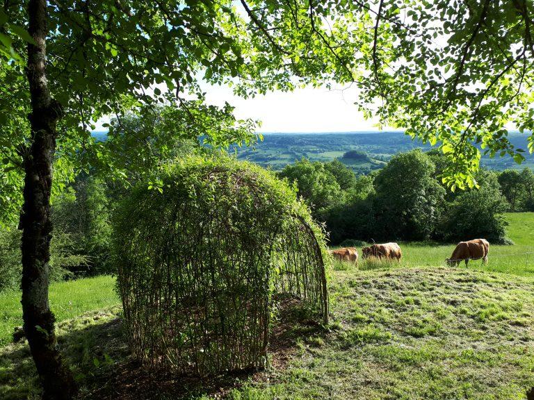 Hébergement insolite en Corrèze - La maison des étoiles - jardin