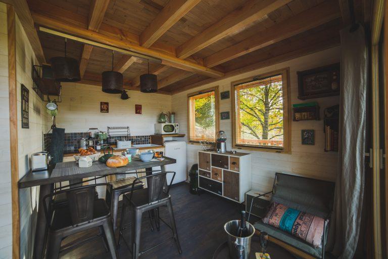 Hébergement insolite en Haute-Vienne - Cabane carrément perchée - intérieur