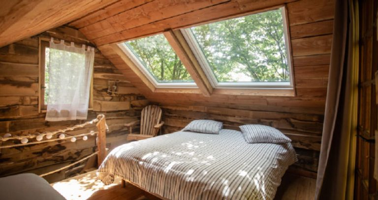 Hébergements insolites en Limousin, Corrèze - Les cabanes au bord du monde - la cabane cents ciels