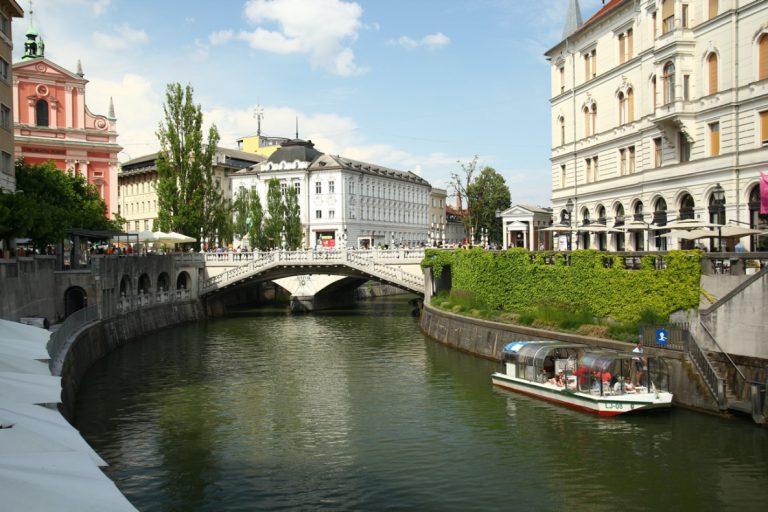 Les ponts de Ljubljana, Slovénie